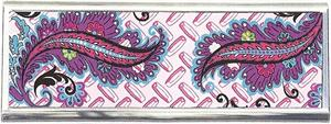 Pink Diamond Cut Plate/Paisley Tampon Case